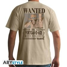 Abystyle One Piece Portgas D. ACE Wanted T Shirt OP RIP ruffys bruder 2 division