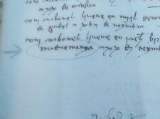 Manuscrit Original, Histoire Du Monestir de Santa Clara, Madremanya 1325-1455