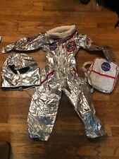 Kids Boys Teetot & Co Silver Metallic Astronaut Spaceman NASA Suit SZ 5 star lab