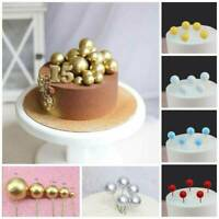 6 Colors Vogue Ball Shaped Cake Topper Wedding Birthday Party Cake Decoration H