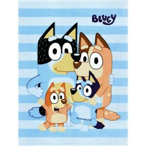 Bluey Fleece Blanket Throw For Single Bed or Couch Brand New