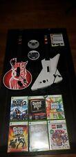 Guitar Hero Xbox 360 Bundle Lot Rockband Explorer Aerosmith