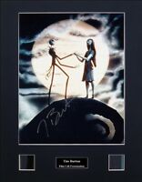 Tim Burton Ver1 Signed Photo Film Cell Presentation