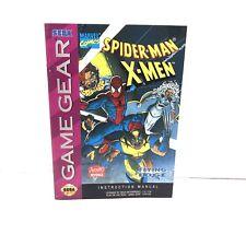 Spider-Man X-Men SEGA Game Gear Instruction Manual Booklet ONLY