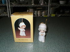 Precious Moments 1982 The First Noel Nativity Hanging Ornament E-2368