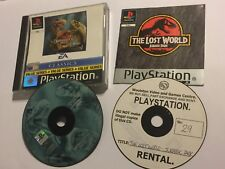 2x PS1 PLAYSTATION 1 PSone GAMES WARPATH JURASSIC PARK + THE LOST WORLD PAL