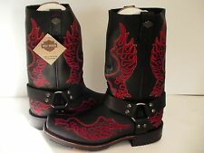 Harley Davidson boots Slayton D93141 leather black oil resisting size 8 men us