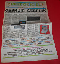 Magazine hebdogiciel [no 151 5 sept 86] amstrad oric msx apple II no tilt * jrf *