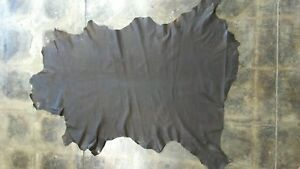 Italian Sheepskin Leather Skin Hide Soft distressed matte brown 7 Sq.Ft 1.5 oz