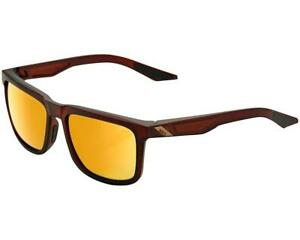 100% Active Performance Sunglasses - Blake Soft Tact Rootbeer - Flash Gold Lens