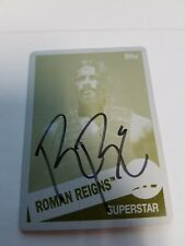 TOPPS ROMAN REIGNS 2015 Heritage AUTOGRAPH PRINTING PLATE 1/1 In person yellow
