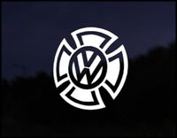 VW Iron Cross Golf Polo Transporter Camper Euro DUB Vag Car VW Decal Sticker JDM