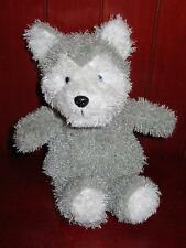 "10"" Steven Smith Siberian HUSKY Stuffed Animal Toy Grey White Puppy Dog Shaggy"