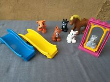 Duplo Compatible Figures Slide Swing Playground Animal Cats Squirrel Horse Tiger