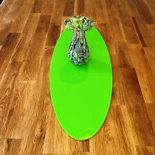 Oval Table Runner / Protector in Lime Green Gloss Finish Acrylic 3mm