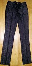 elegante Damen / Mädchen Nadelstreifenhose , Schwarz/Silber , Größe 32/34 , NEU