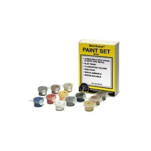 Woodland Scenics M125 HO-Scale Mini-Scene Paint Set, 8 Color, Wood,Plastic,Metal