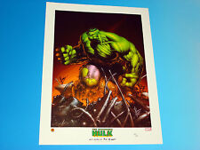 Incredible Hulk Lithograph Signed by Dale Keown Marvel Limited Edition Edition