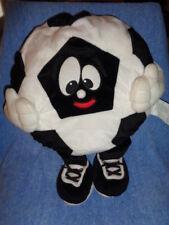 "Ball Soccer flat pillow guy man 19"" Vtg KENTEX Int'l plush stuffed face leg shoe"