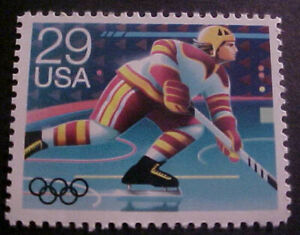 1991 NHL Hockey winter olympics 29 cents stamp is Scott#2611 Age 30 years old...