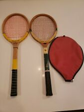 2 Vintage tennis rackets lot Wright & Ditson , primary pro model and a cover