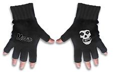 Misfits Gloves Band Logo and Fiend Jarek Official Fingerless Black One Size