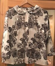 Ladies Size 8 Ivory And Grey Casual Top From Tu