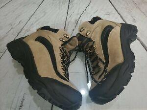 Mens Ozark Trail Waterproof Hiking Outdoor Boots Size 7.5 Beige Black