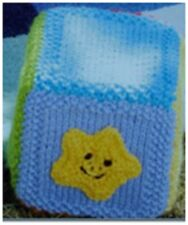 T011 KNITTING PATTERN VINTAGE BABY BLOCKS AND BALL SOFT TOY