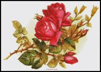 Rose 5 - Chart DIY Counted Cross Stitch Patterns Needlework