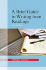A Brief Guide to Writing from Readings by Stephen Wilhoit (2012, Paperback /...
