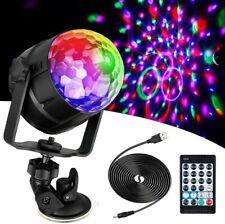 Anpro 15 Colores Luces Discoteca Giratoria,Bola LED de Discoteca,Disco Luz USB,