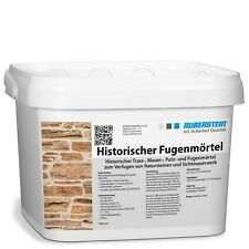 Orig. Ruberstein® Historischer Fugenmörtel Spachtel natur, 5 kg Eimer