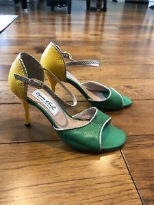 Comme Il Faut 36 womens sandals high heels. tango or dinner out. Leather sole.
