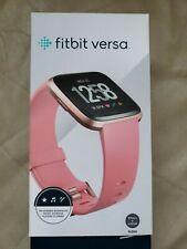 Fitbit Versa Fitness Smartwatch - Peach/Rose-Gold Aluminium (Fb504Rgpk)
