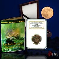 "Admiral Gardner (1808) Shipwreck Treasure - ""X Cash"" Coin -NGC Certified + Wood"