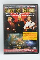 """dvd """" Let It Rock """" the 60th birthday concert Jerry lee lewis, Jeff Healey, ..."""