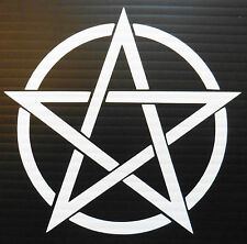 Pentogram Magic pagan gods myths stickers/car/van/bumper/window/decal 5112 White