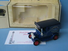LLEDO Fred dibnah Ford Model T van rare coffret avec certificat 70mm long SP6