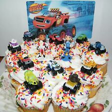 Blaze and the Monster Machines Cake Toppers Set of 13 Mini Figures with 9 T