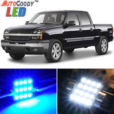 12x Premium Blue LED Lights Interior Package for Chevy Silverado 1999-2006 +Tool