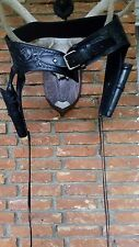 Toller Western Gürtel mit 2 Halfter,Holster by Viking Mexico Colt,Revolver Leder