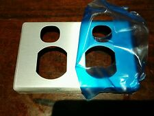 Clipsal Classic Cover Plate BRUSHED ALUMINIUM C2025C Powerpoint Twin Socket