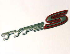 Type S chrome ROUGE badge emblème Honda Civic Integra FN2 EP3 EK Rear Boot Trunk 42