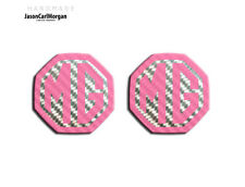 MG ZS ZR MGF LE500 MK1 Insert Badge Logo Front Rear 59mm Pink Carbon Badges