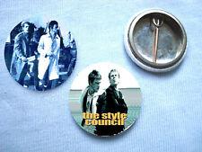 Style Council - 2 Badges Mods Paul Weller Oasis The Jam