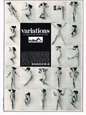 PUBLICITE  1970   SIMMONS  matelas VARIATIONS