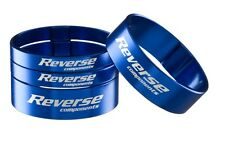 Reverse,aumento PORCHE,Superlight Spacer aluminio,Set 2x5mm,2x10mm,Azul Oscuro
