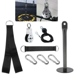 Pulley Cable Machine System DIY Attachment Home Gym Adjustable LAT Pull Cable