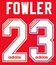 Liverpool Fowler Nameset Shirt Soccer Number Letter Heat Print Football Adidas